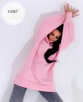 Худи с капюшоном с начесом розовое T124