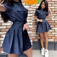 Платье легкая джинса темно-синее RH06