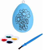 Набор для творчества Раскраска яйцо, краски кисть