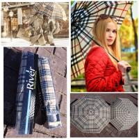 Женский зонт в стиле BURB 5028 разные