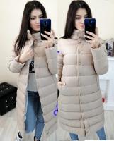 Болоневое пальто на кнопках кремовое ZI