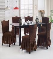 Комплект чехлов на стулья из 6 штук шоколад