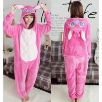 Кигуруми для взрослых пижамка Розовый Стич
