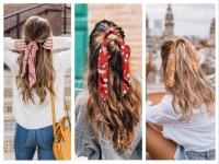 Резинка для волос с платком