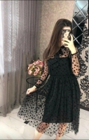 Платье верх фатин полоса сердечки KH110
