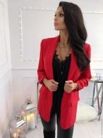 Пиджак с подкладкой спереди красный A133 Z109 KH