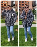 Куртка демисезон SIZE PLUS буковки 09-20 черная KSU