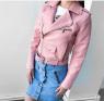 Куртка экокожа с кармашком и ремнем pink ZI T124 Новая цена