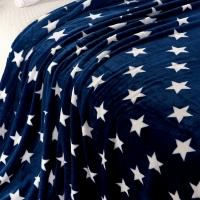 Мягкий пледик звезды тем-синий 180х200
