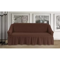 Чехол на трехместный диван шоколад