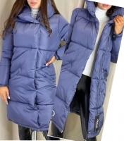 Удлиненная куртка на молнии дымка ZI