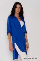 Рубашка-туника яр-синяя RH122