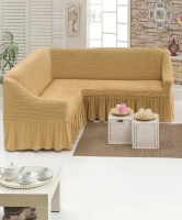 Чехол на угловой диван медовый