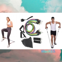 Набор эспандеров для фитнеса многофункциональный 5 жгутов НОВАЯ ЦЕНА