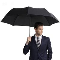 Зонт AMICO мужской черный полуавтомат