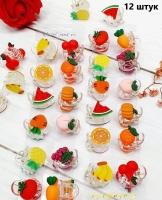 Набор из 12 крабиков фрукты 856.2