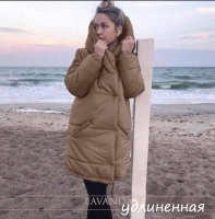Удлиненная куртка на молнии каппучино ZI