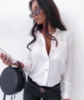 Рубашка с 1 карманом белая A133 Z109