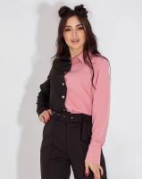 Рубашка домино черно-пудровая Z109 A116