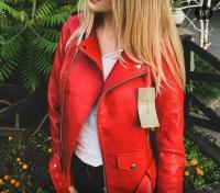 Куртка экокожа с кармашком и ремнем red ZI T124 Новая цена